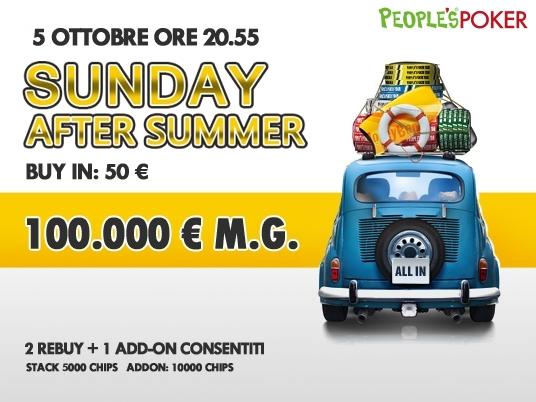 Sunday After Summer su People's Poker: 100mila euro per il ricordo più bello dell'estate 2014!