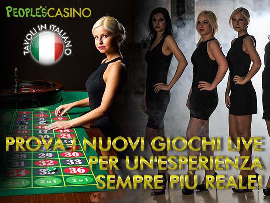 Live Casino: da oggi aumentano i tavoli italiani!