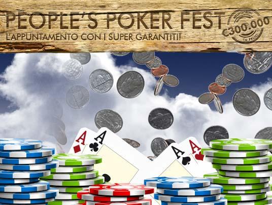 """Dal 17 novembre arriva il """"People's Poker Fest"""", l'appuntamento con i Super-Garantiti!"""