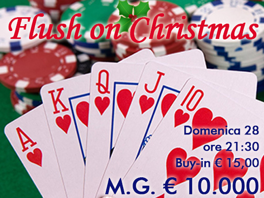 Flush in versione natalizia: domenica 10mila euro nel sacco