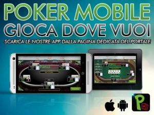 """Le App Mobile per smartphone e tablet sono disponibili nella pagina del portale """"People's Poker"""""""