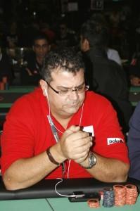 Silvio Lazzaro ai tavoli del Main Event del PPTour di Campione d'Italia 2011, dove arrivò ITM