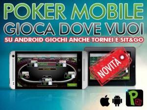 Gioca anche Tornei e Sit&Go dal tuo dispositivo mobile Android!