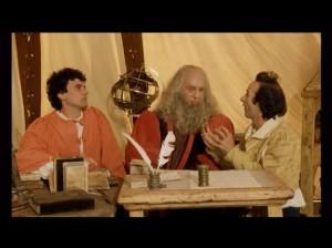 Troisi e Benigni insegnano senza successo le regole della Scopa a Leonardo da Vinci...