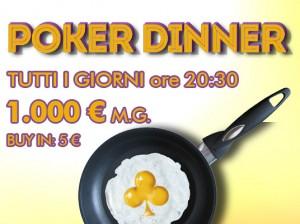 Poker Dinner è il torneo da 1.000 Euro garantiti delle 20:30, conquistato ieri da gattosilvestro13