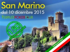 L'ultima tappa del PPTour 2015 sarà a San Marino a partire dal 10 dicembre. Da lunedì 28 settembre le qualificazioni online