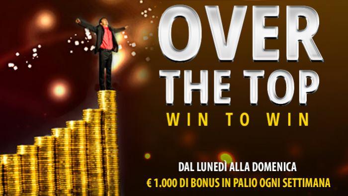 Win to Win Over the Top: la classifica settimanale del Casino