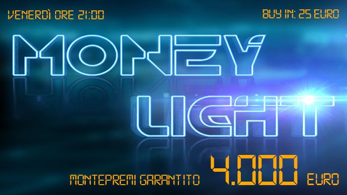 Money Light, stasera buy-in da 25 euro per l'appuntamento delle 21 che assegna 4K