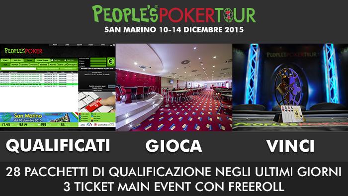San Marino: 13.500 euro distribuiti in settimana. Anche tre freeroll per raggiungere il Main