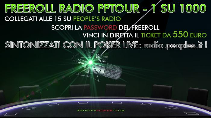 Freeroll Radio PPTour – 1 su 1000 domani arriva GRATIS a San Marino!