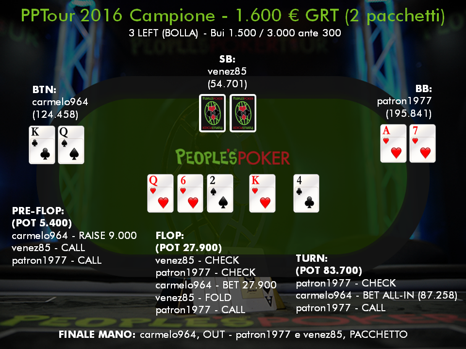 Road to PPTour Campione – Tra i due chipleader… il terzo gode!
