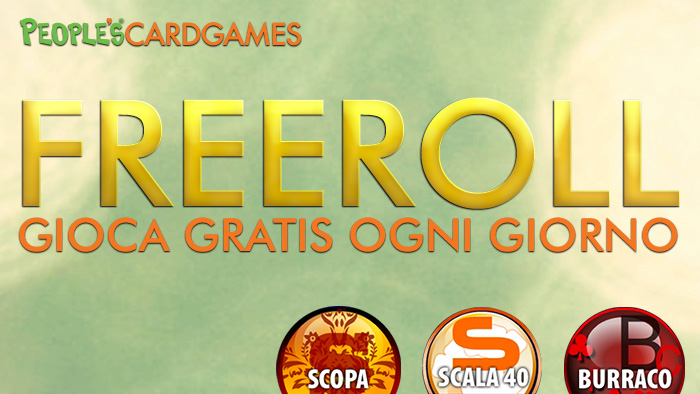 Divertiti e gioca gratis su People's CardGames: ecco il nuovo palinsesto Freeroll!