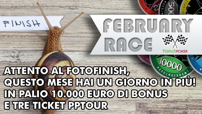 February Race: ecco il mese più lungo per raggiungere il tuo bonus…e il PPTour