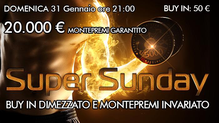 Super Sunday: domenica costa la metà!