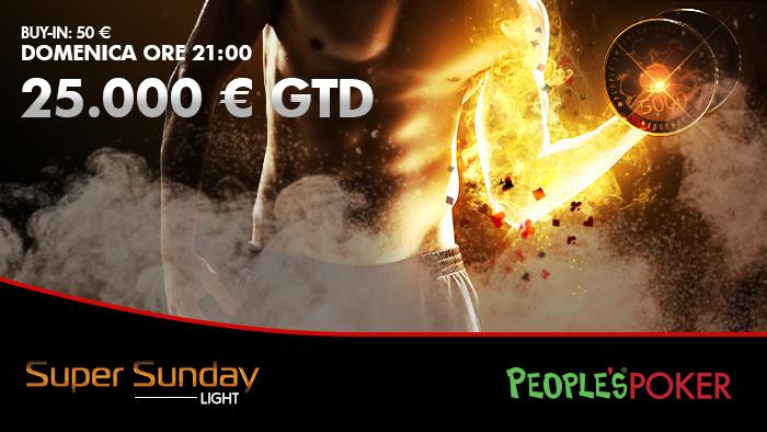 michemerra  vince il Sunday 25k. Per domenica prossima confermato il Garantito ma il buy-in si dimezza!