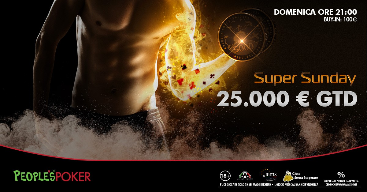 € 25.000 GRT, la domenica è Super su People's Poker!