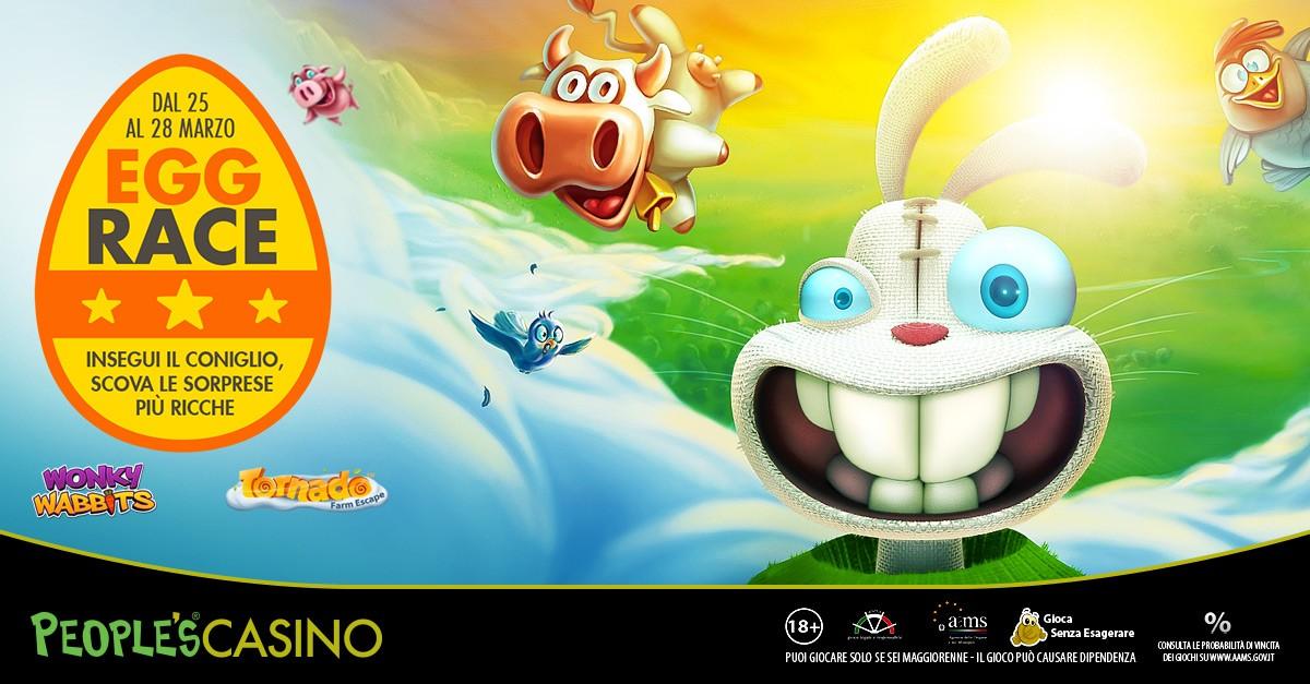 EGG RACE: vinci bonus con il torneo di Pasqua su People's Casino