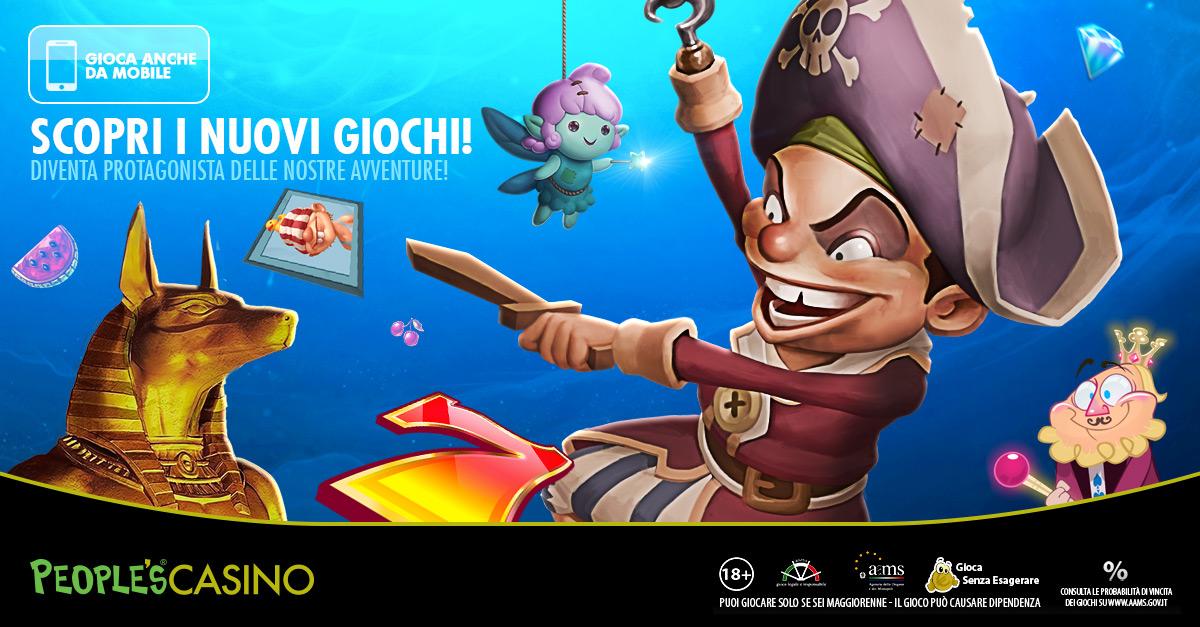 People's Casino: 5 nuovi giochi desktop e mobile.  Dai faraoni alle gemme: il tesoro è dietro al rullo