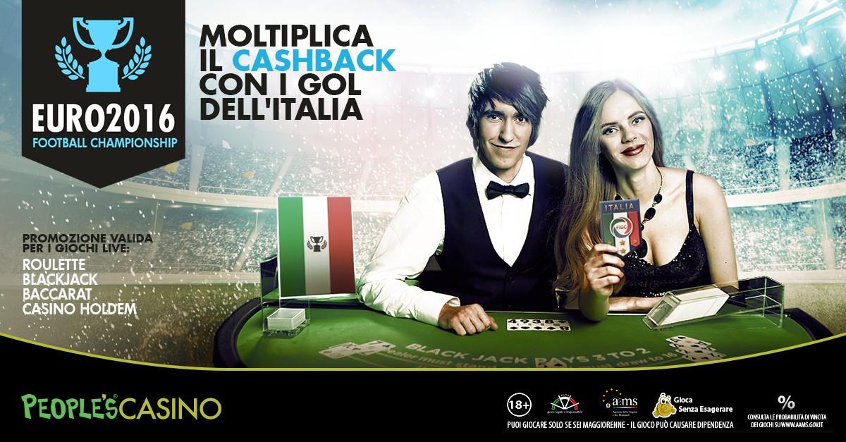 Live Casinò, il 2% ad ogni goal dell'Italia: 90′ con la Spagna per fare bottino