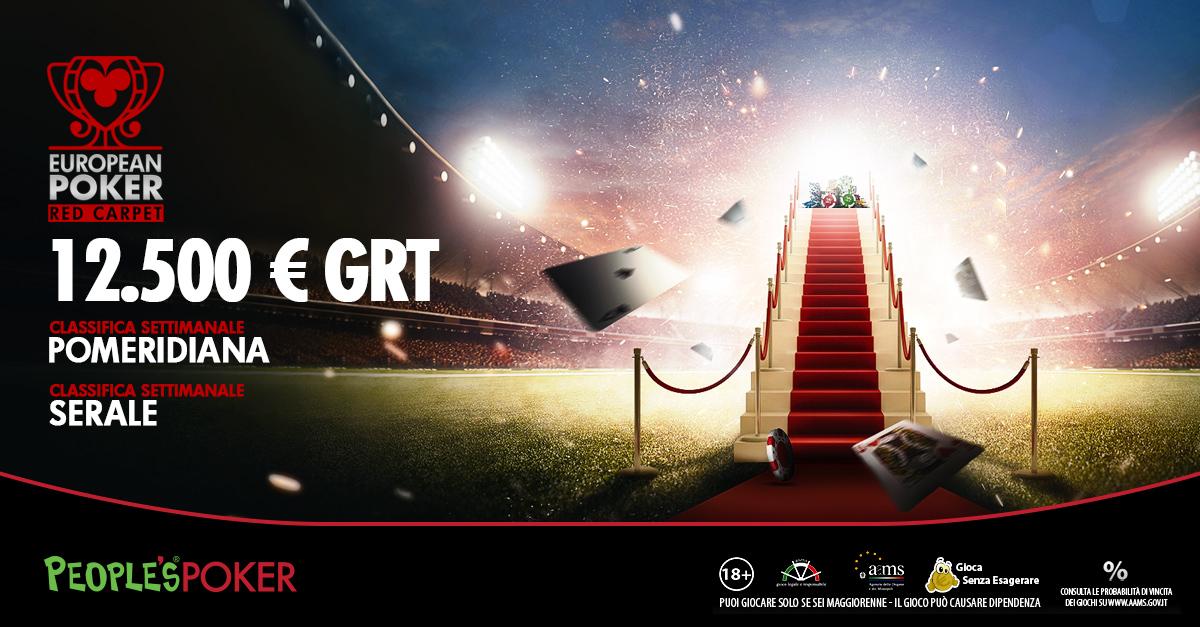 People's Poker lancia European Red Carpet: possibile vincere insieme agli azzurri