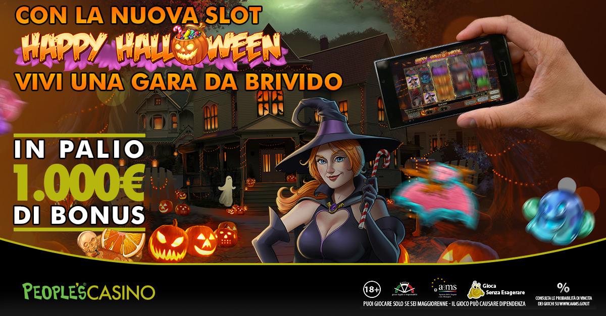 Happy Halloween Race: il People's Casino regala 1.000 euro in dolcetti
