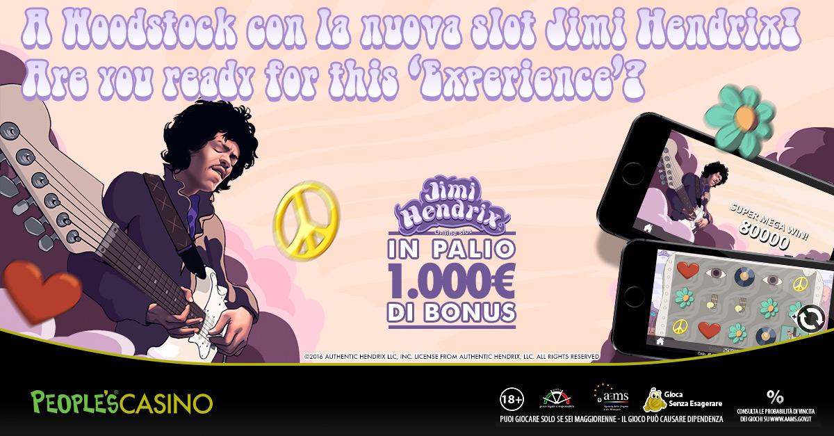Jimi Hendrix può regalarti fino a 1.000 euro: da oggi inizia il concorso Experience Race