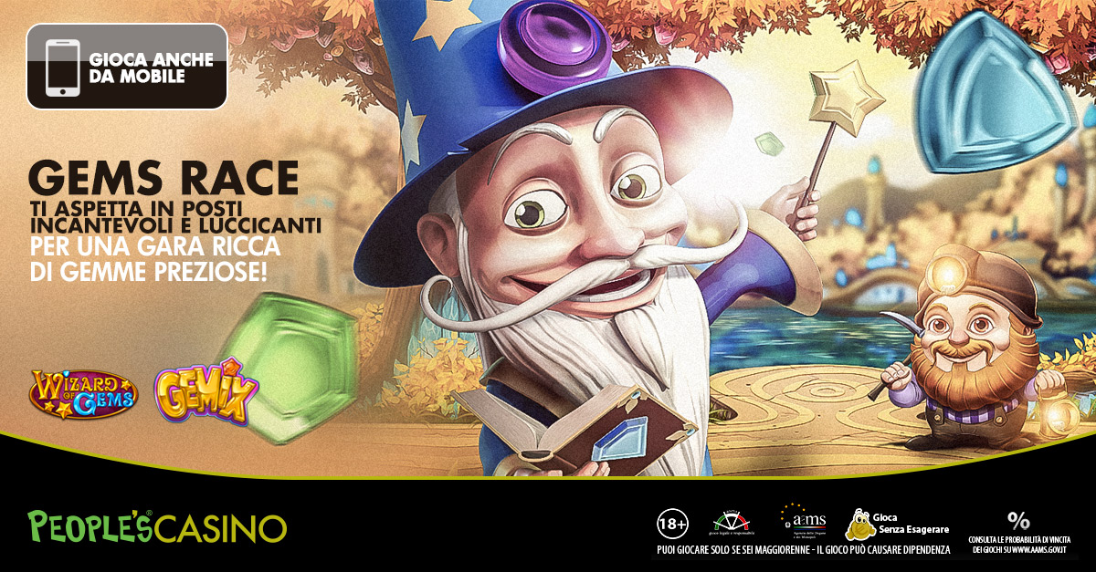 Gems Race, tempo fino a domenica per entrare in classifica e conquistare i mille euro