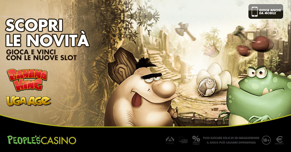 Uga Age e Banana King: nuovi giochi per il People's Casino tra giungla e preistoria