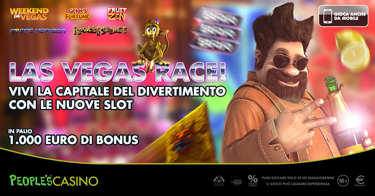 Las Vegas Race: prova a prendere i 1.000 euro dell'ultima gara People's Casino!