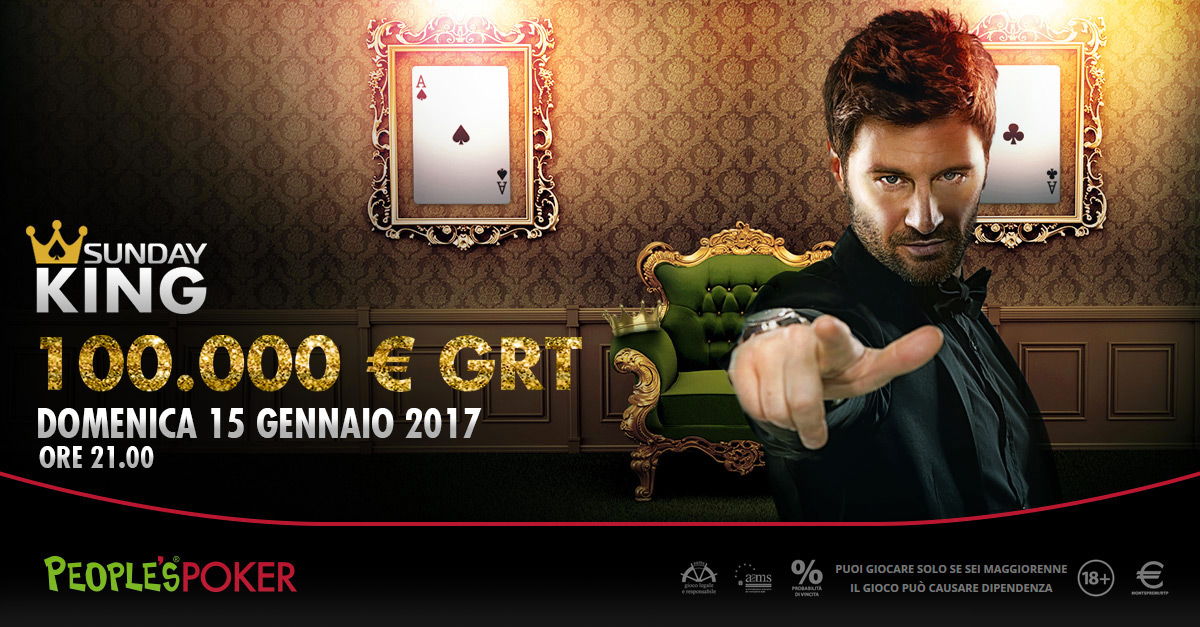 Sunday King da 100mila euro: 374 ticket dai sat in programma fino al 15