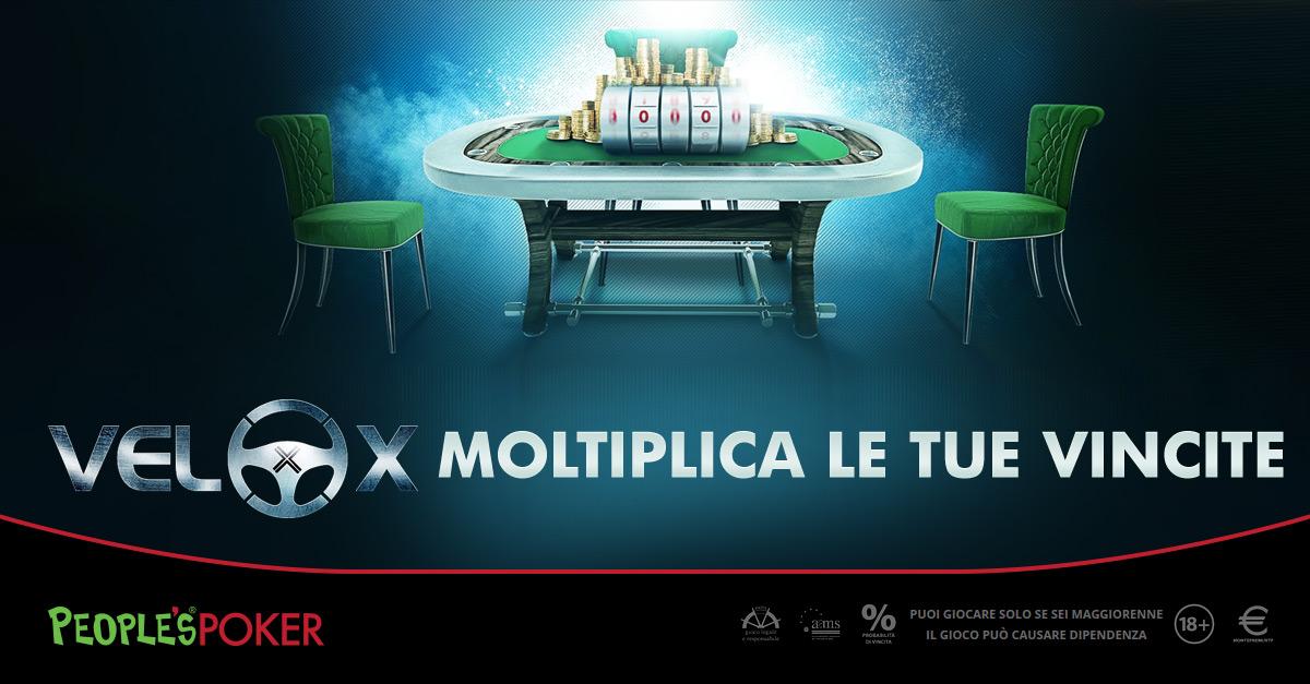 Velox di People's Poker, ieri un altro X6.000: distribuiti 12mila euro, vince un calabrese