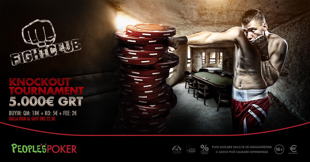 Fight Club: su People's Poker un nuovo garantito da 5mila euro in modalità KO