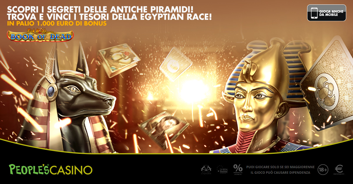 Egyptian Race, fino a domenica mille euro in palio con Book of Dead