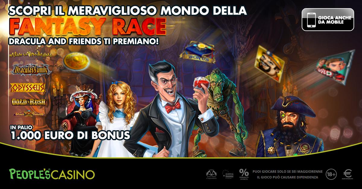 Fantasy Race, dal People's Casino 1.000 euro extra con 5 nuovi giochi di Playson