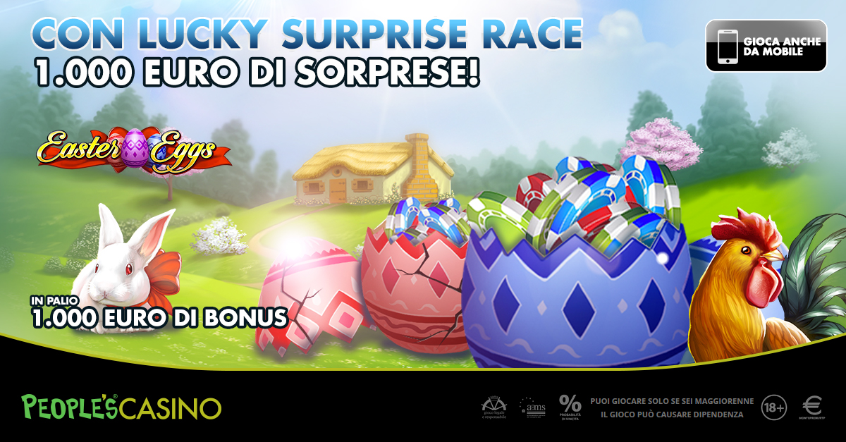 Lucky Surprise Race, nel People's Casinò già si rompono le uova…