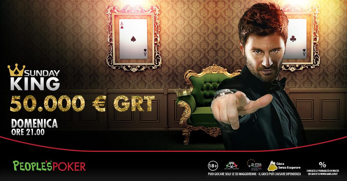 People's Poker, Sunday King da 50mila euro: Filippo Bisciglia ci mette la faccia