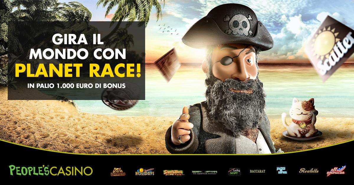 Planet Race, il giro del Mondo in 5 slot vale 1.000 euro: la promo attiva fino a domenica