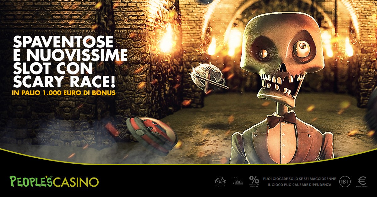 Su People's Casino arriva Scary Race: come superare la paura con 1.000 euro
