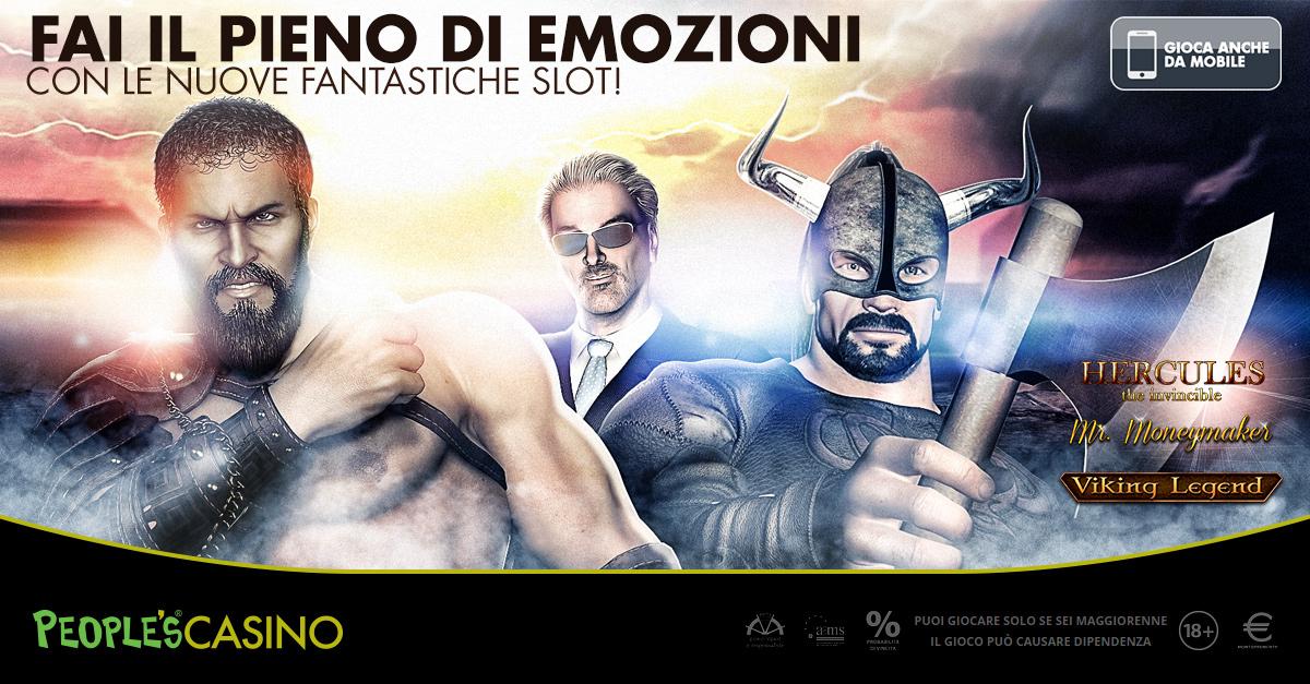 People's Casino, tre nuovi Jackpot da veri eroi nel salone più grande d'Italia