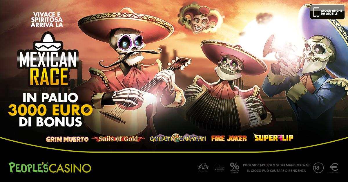 Domani parte Mexican Race, 3.000 euro in palio e maxibonus da 500 al vincitore