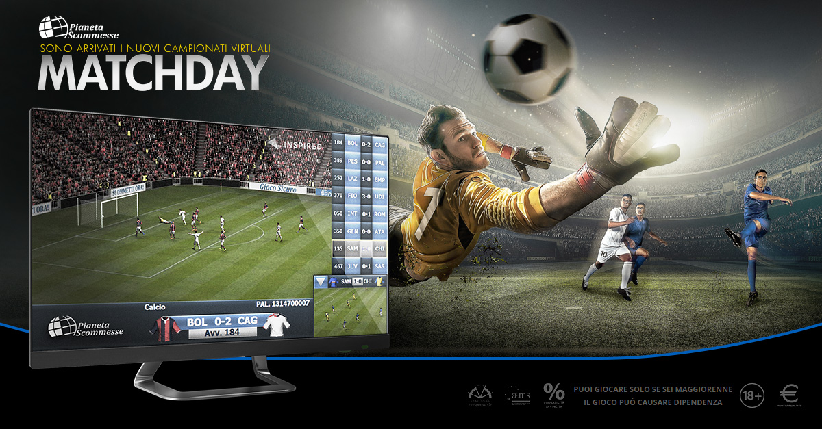 Virtual: MatchDay, nelle sale Pianeta Scommesse le classifiche Microgame in anteprima assoluta