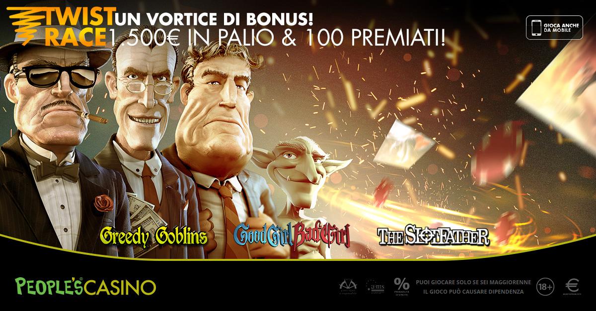 Twist Race, su People's Casino 7 giorni per entrare nel vortice dei bonus