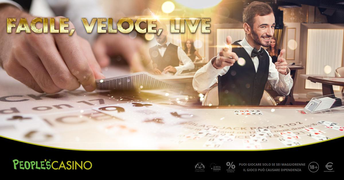 BlackJack live, People's Casino inaugura i tavoli low-stakes: puntate accessibili a tutti