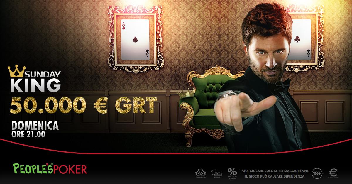 Dopo il successo dell'ultimo Sunday King, People's Poker mette altri 50K sul piatto
