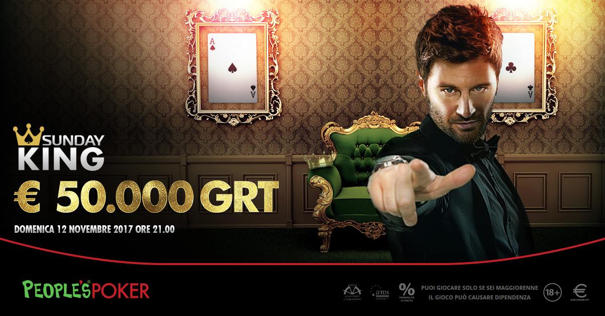 Centinaia di sat per il Sunday King, solo domenica 84 ingressi su People's Poker