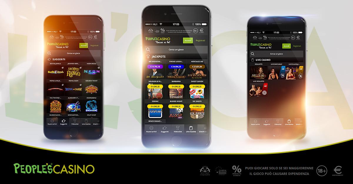 People's Casino rinnova il portale mobile: più veloce e facilmente navigabile