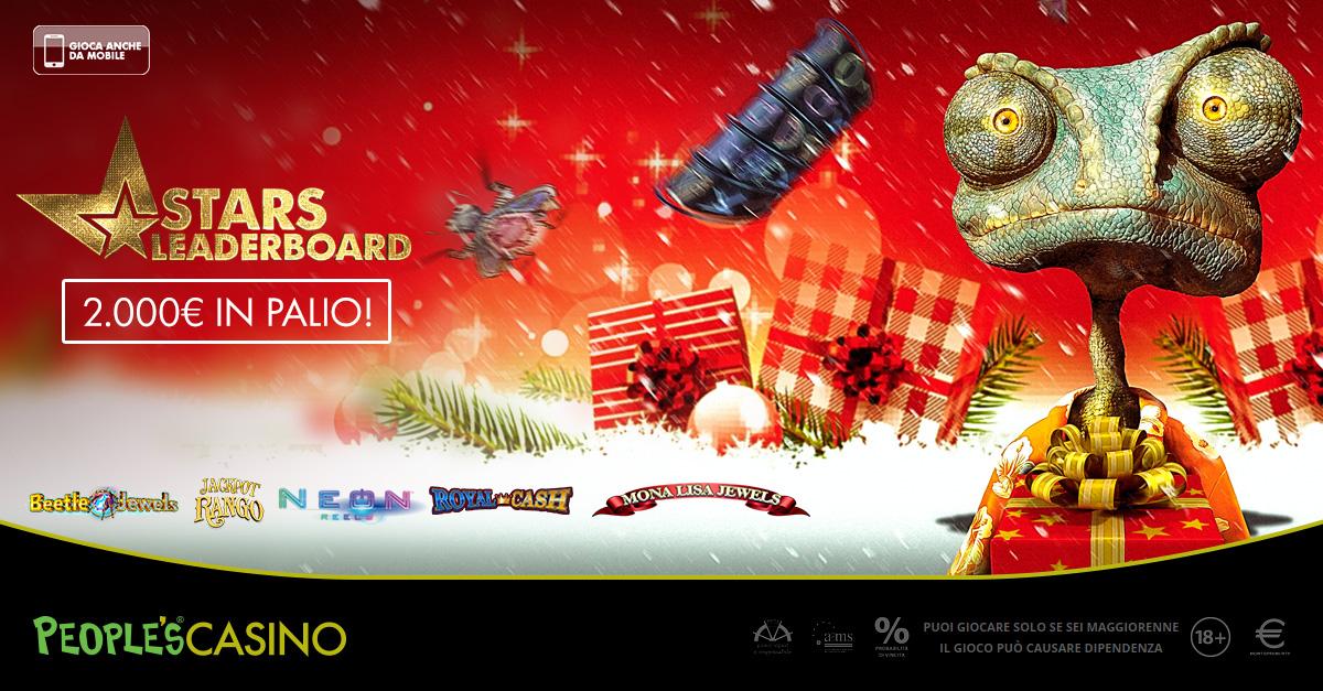 Stars Leaderboard: su People's Casino, 7 giorni e 5 nuove slot per conquistare 2.000 euro