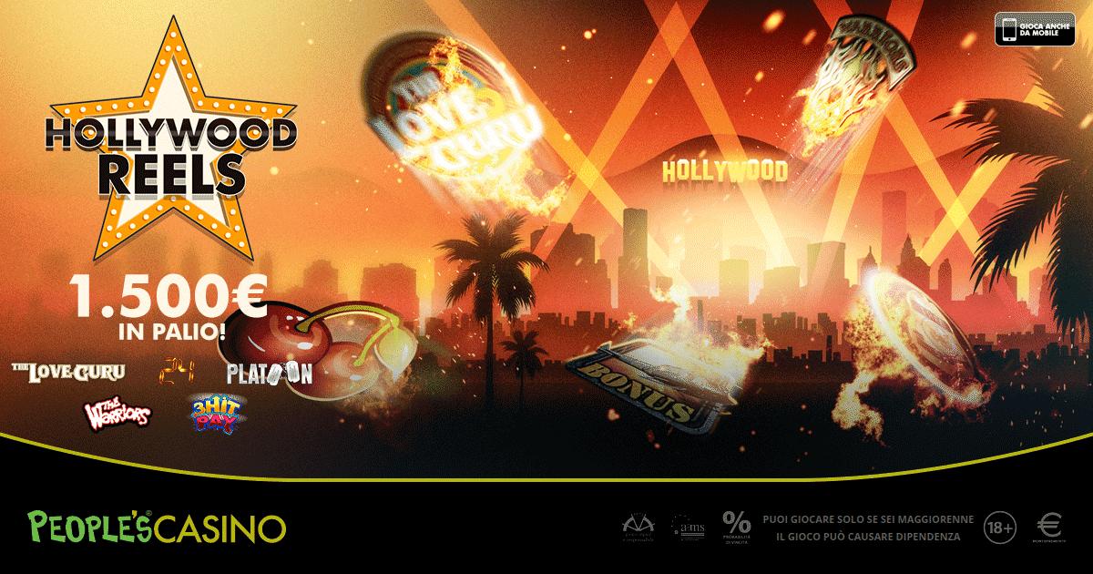People's Casino, con la promo Hollywood Reels 100 premi e 1.500 euro