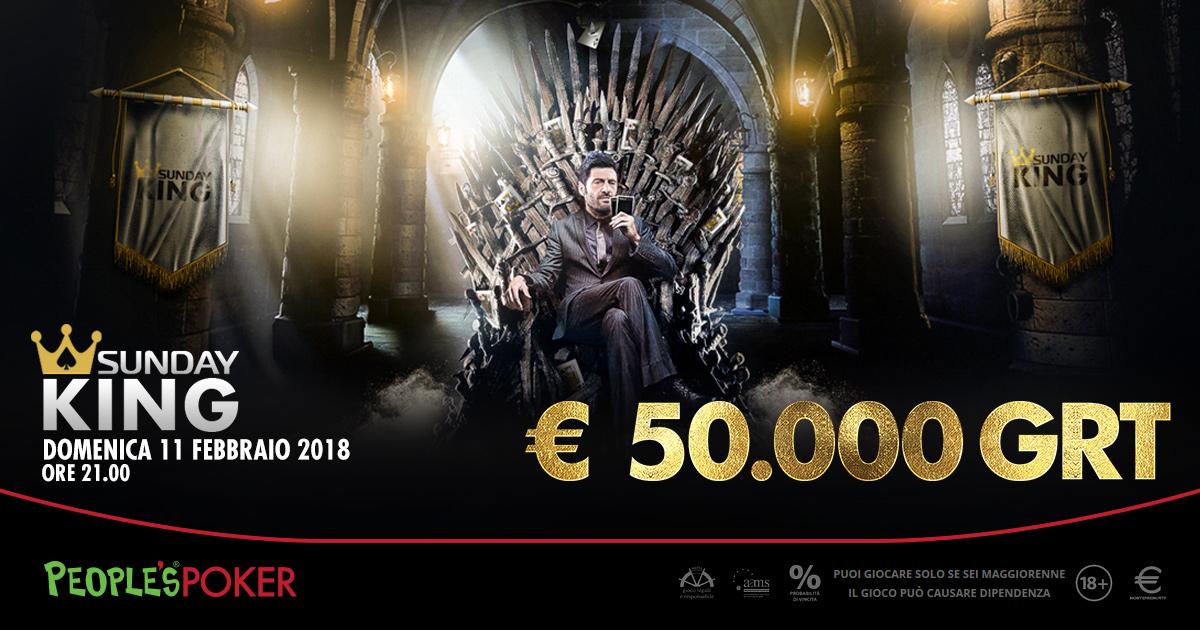 Sunday KING da 50mila euro, nella lobby People's Poker anche Filippo Bisciglia