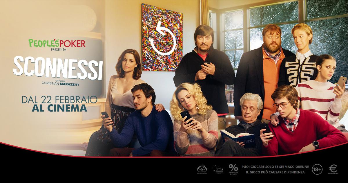Poker e Cinema, da oggi ritorna la promo People's Poker che assegna le poltrone per 'Sconnessi'